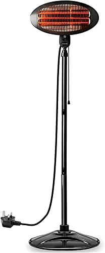 SKYWPOJU Electrical 2KW Quartz Free Standing Outdoor Electric Garden Patio Heater