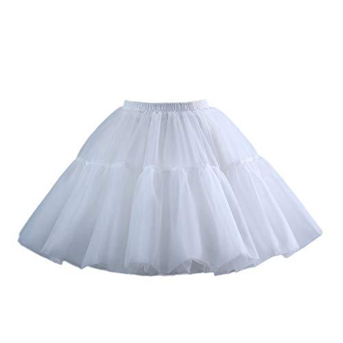 MYhose Delantal Niñas Falda Corta Enagua Cosplay Encaje Fishbone Lolita Slip Liner Blanco Blanco