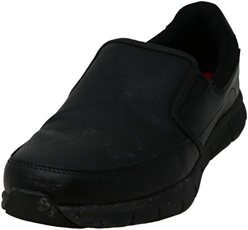 Skechers for Work Men's Nampa-Groton Food Service Shoe,black polyurethane,8 M US