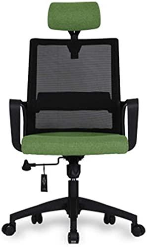 Barstol Dekorativ avföring Bekväm gäststolstolar, Bekväm Breathable Chair Wear Beständig Stol Dator Skrivbord Och Stol Kontor Swivel Stol Fåtölj Fåtölj Kontorsmaterial (Färg: Röd) (Color : Green)