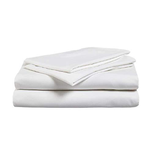Gailarde Gardtex Bettlaken für Einzelbett / Doppelbett, 100 % Polyester, schwer entflammbar, für Krankenhaus- und Heimbetten, Einzelbett (178 x 254 cm), Weiß