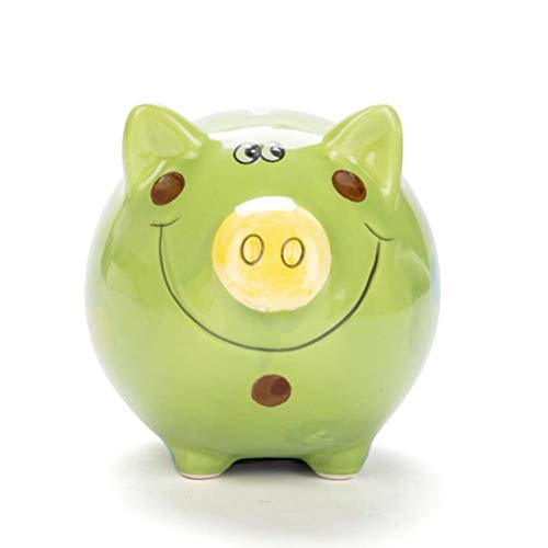 tanbuhu Tanbubu Clear Lovely Piggy Bank, Plastic Coin Cash Money Saving Box Openable Kids Gift Blue Home Accessories