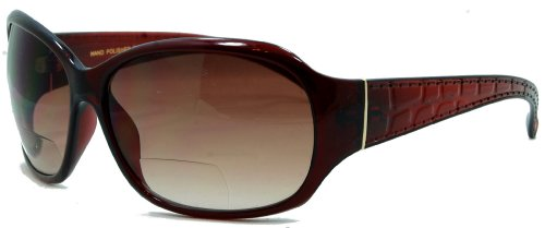 In Style Eyes Later Gator Bifocal Reading Sunglasses, Italian Design, UV 400 Protection, 2.5x
