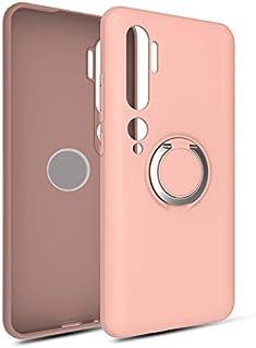 KNY Xiaomi Mi Note 10 İçin Kılıf, Ultra İnce Yüzüklü Manyetik Plex, Silikon, Pembe