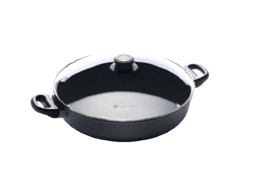 Swiss Diamond SD6632ic SAUTEUSE 32 CM 2 POIGNEES Couvercle Verre Inclus - Induction