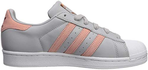 adidas Originals Damen Superstar Turnschuh, Grau/Trace Pink/Weiß, 37 EU