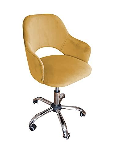 MARTHOME Drehstuhl, Milano, Bürostuhl, Samt, Bürostuhl, höhenverstellbar, gepolsterter Sessel (MG15)