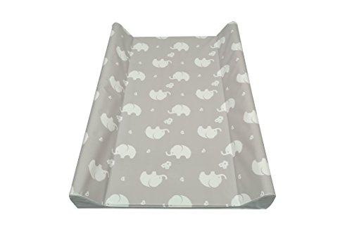 AsMi Colchón para cambiar pañales, diseño de elefantes Elefant ecru Talla:70 x 50 II - cuña