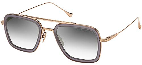 Dita FLIGHT.006 MATTE GREY CRYSTAL K GOLD/GREY SHADED 52/22/144 Mens Zonnebrillen