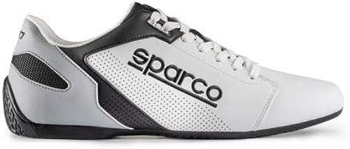Sparco S00126339BINR Hausschuhe SL-17 Größe 39 Weiß schwarz