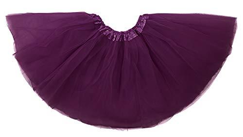 Dancina Deep Purple Tutu Mujeres Regular 2-18 Púrpura