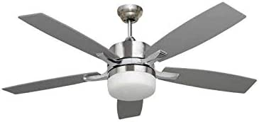 Ventilador de techo con luz Serie MENFIS plata/haya