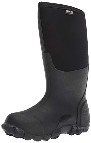 Bogs Men's Classic High Waterproof Insulated Rain Boot, Black, 11 D(M) US