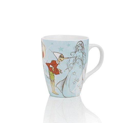Brandani 54169 Pinocchio Collection FATA Turchina Becher aus Porzellan, mehrfarbig