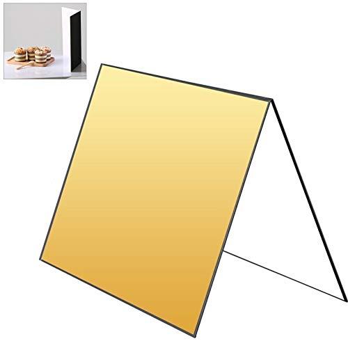 Selens 3-in-1 Fotografie Reflektor Cardboard, 29,7X42cm Faltender Licht Diffusor Brett Hintergrund für Stillleben, Produkt und Lebensmittel Fotografie Shooting - Schwarz, Gold und Weiß