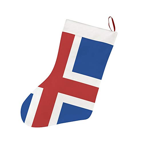 FFCrying Iceland Flag Christmas Stockings Personalized Xmas Stockings Hanging Ornaments Candy Gift Bags for Family Christmas Decoration Party Supplies