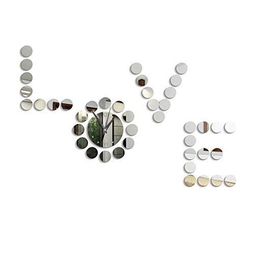 Palm kloset Reloj de Pared 3D Diseño de DIY Pegatinas de Pared Acrílico IMAGINACIÓN Caliente IMAGINACIÓN ARBITRARIA MODIFICADA Mano DE Plata Mujer Decorativo 36 * 42cm