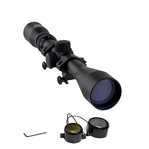Svbony SV120 Mira Telescopica,3-9x40 Sight Scope, Retícula en Forma de Cruz 1/4MOA Amplio Alivio Ocular Adapta a 20 / 22mm Montar Scope para Actividades al Aire Libre