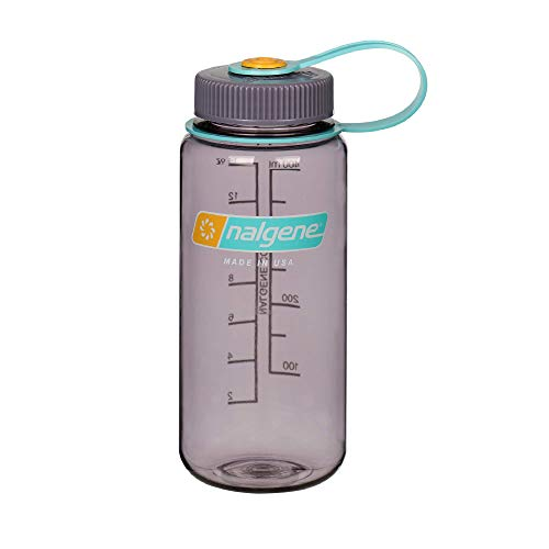 Nalgene Tritan Wide Mouth BPA-Free Water Bottle, Aubergine, 16 oz