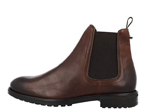 BULLBOXER Herren Stiefeletten, Männer Chelsea Boots,Stiefel,Halbstiefel,Bootie,Schlupfstiefel,flach, halbstiefel Bootie flach,braun,44 EU / 9.5 UK