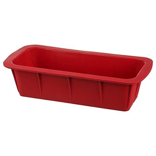 Secret de gourmet Moule rectangulaire en Silicone Rouge 24 cm
