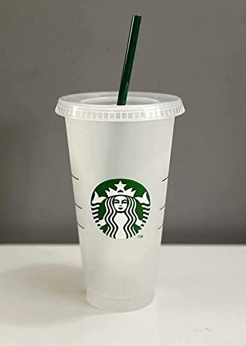 Starbucks Vaso de plástico reutilizable para bebidas frías con logotipo de sirena, 710ml