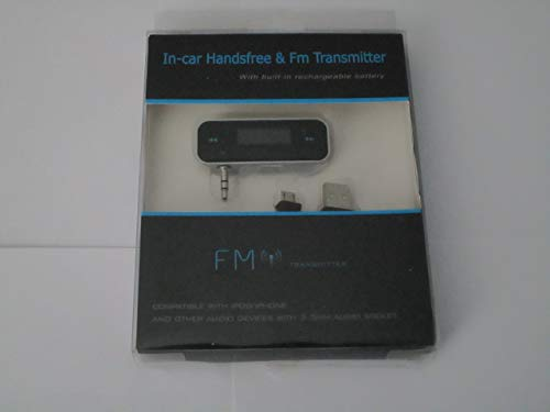 Build-in Battery Audio FM Transmitter for iPhone 5/ iPod/iPhone 4/ iPhone 3GS/ MP3 /All 3.5mm Audio Socket