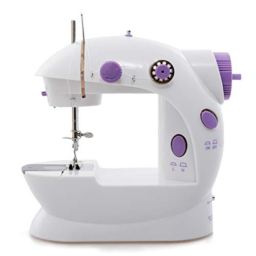 Mini Sewing Machine, Portable Sewing Machine for Beginners Adult, Electric Crafting Speed Crafting Mending Machine Electric Overlock Sewing Machines for Sewing of Silks, Denim, Wool, Leather
