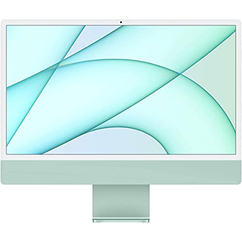Apple iMac 24' with Retina 4.5K Display, M1 Chip with 8-Core CPU and 8-Core GPU, 16GB Memory, 1TB SSD, Gigabit Ethernet, Magic Keyboard with Touch ID and Numeric Keypad, Green, Mid 2021