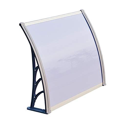 Toldo para puerta de patio, toldo para puerta, toldo de tienda, toldo para ventana, refugio para lluvia, techo, para muebles, patio, cubierta de sombra (color: gris+transparente, tamaño: 80 x 160 cm)