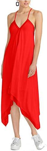 RACHEL Rachel Roy Women s Maddelena Sleeveless Handkerchief Hem Dress Radiant Red Medium product image