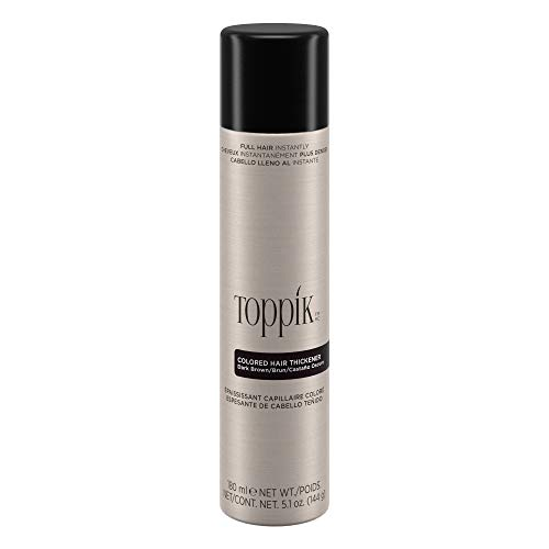 Toppik Colored Hair Thickener, Dark Brown, 5.1 OZ