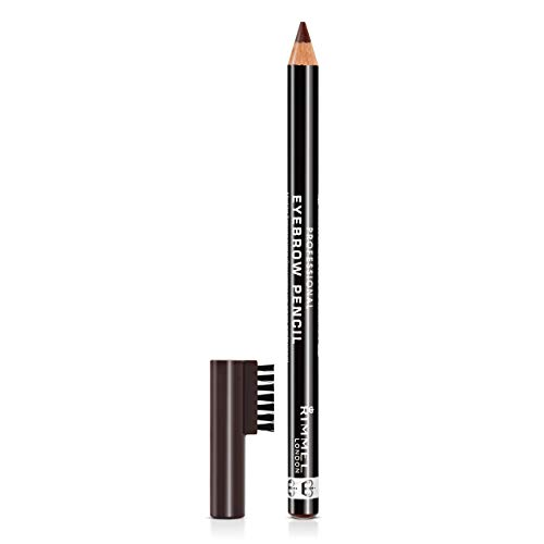 Rimmel - Crayon à Sourcils Professional - Résultat Naturel - Application Précise - 001 Dark Brown - 1,4gr