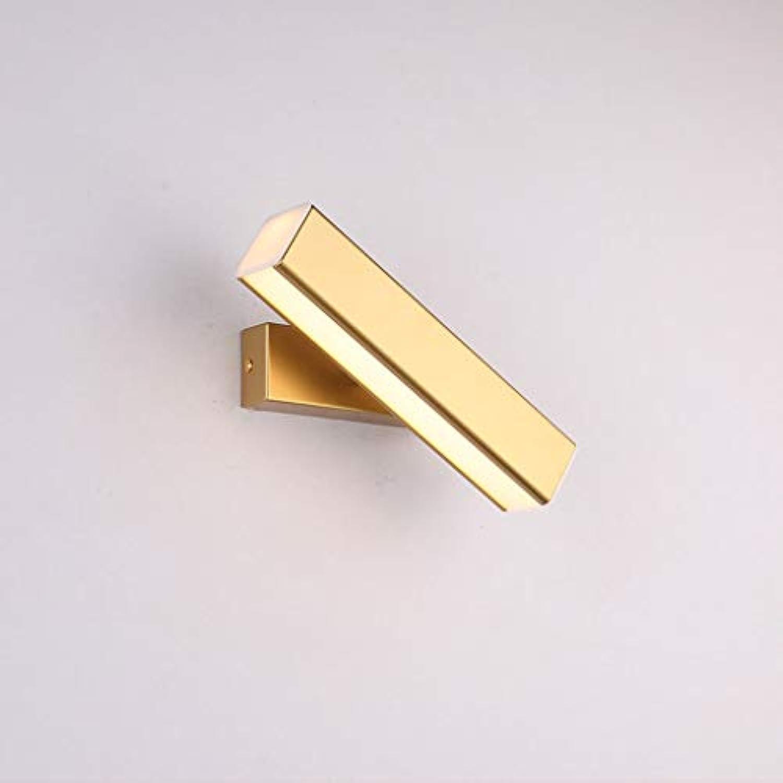 JIAQI Kreative Persnlichkeit Rotierenden Wandleuchte Acryl Led Wandleuchte Modernen Minimalistischen Wohnzimmer Schlafzimmer Balkon Korridor Ganglichter (Farbe   Gold, gre   30cm)