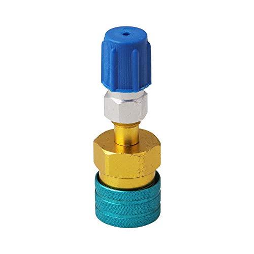YONGYAO Acoplador de Lado bajo Adaptador rápido Conector Adecuado para R1234YF / R12 a R134A Coche Carga de Aire Acondicionado AC