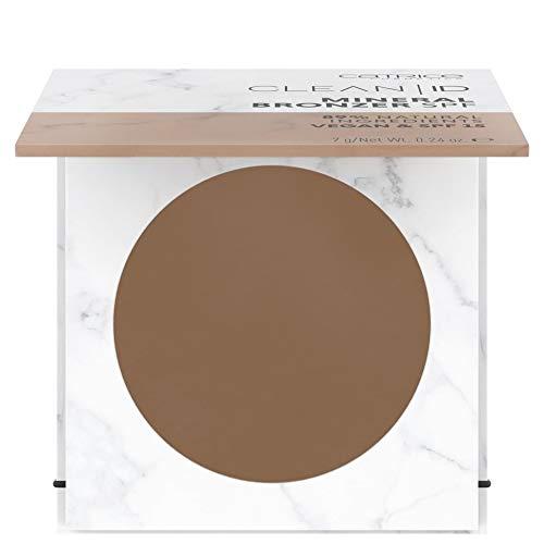 Catrice Clean ID Mineral Bronzer SPF, Nr. 020 Medium/Dark, braun, matt, vegan, Mikroplastik Partikel frei, Nanopartikel frei (7g)