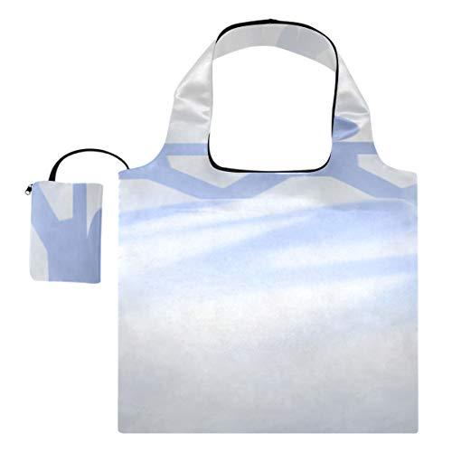 Lebensmittel-Einkaufstaschen Wiederverwendbarer Kreis, der Papierfigur-Leinwand-Einkaufstasche zusammenfügt Große lustige wiederverwendbare Einkaufstaschen Polyester-wiederverwendbare Einkaufstasche