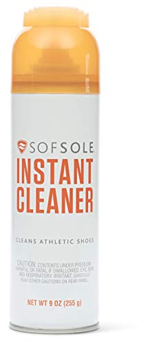 Sof Sole unisex-adult Instant Cleaner Foaming Stain Remover for Athletic Shoes, Black, 9-Ounce