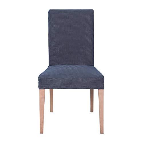 E EBETA Jacquard Fundas para sillas Pack de 6 Fundas sillas Comedor Fundas elásticas Cubiertas para sillas,bielástico Extraíble Funda, Muy fácil de Limpiar (Gris, 6 Piezas)