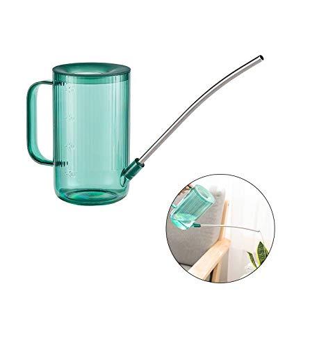 Arrosoir pour fleurs,Petit arrosoir,Arrosoir à long nez en acier inoxydable, Arrosoir pour plantes d'intérieur, Arrosoir en plastique transparent, Adapté à l'arrosage des fleurs et des plantes (A)