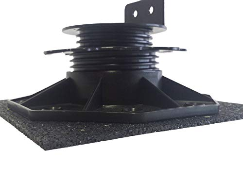 100 Stück Gummiunterlage 200x200x3mm für Plattenlager Stelzlager Terrassenbau Terrassenlager