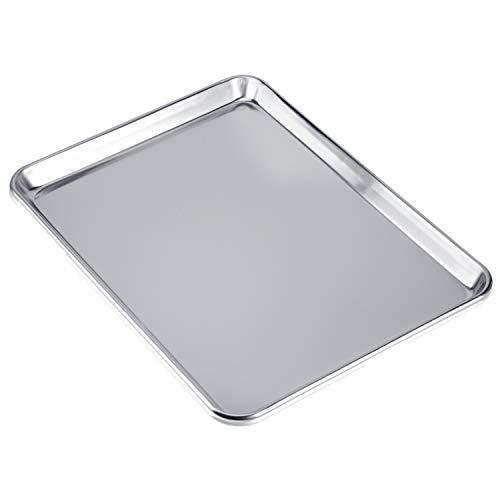 Love-homemaster Heavy Duty Pure Aluminum Half Sheet Pan, Cookie Sheet, Baking Pan, 18″ x 13″ x 1″