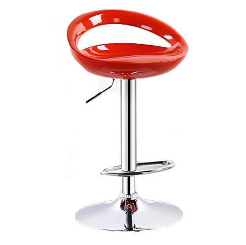 ZHENG Taburetes de Bar Taburete De Bar Elevación Giratoria De 360 ° Mesa Giratoria Y Silla De Salón De Belleza De Alto Taburete 4 Colores (Color : Crimson)