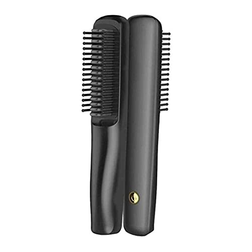 XTZJ Pincel de plancha para el cabello, pincel de alisado de cabello iónico con calefacción rápida, anti-scald, bloqueo de temperatura automática y función de apagado automático, peine de enderezamien