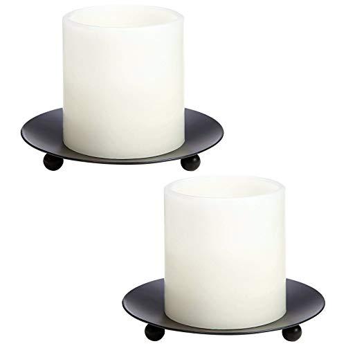 Kerzenständer aus Eisen, schwarz, Retro-Stumpenkerzenhalter, schwarz für Tische, Kerzenhalter, Ständer für dicke Kerzen, Tische, Eisen, Kerzentablett, Dekorationen, Black01