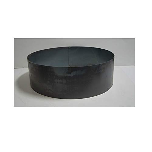 PD Metals Steel Campfire Fire Ring Solid Design - Unpainted - Large 48 d x...
