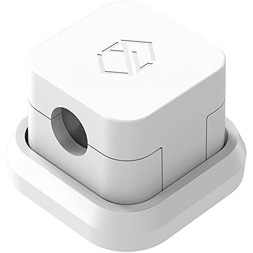 SINJIMORU Clip fermacavi magnetica, per cavi Lightning e USB, autoadesiva Weiß 1 Stück