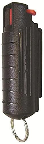 Llavero spray de pimienta con llavero, tapa de pimienta con tapa, agarre de dedo para mujeres, hombres, niños