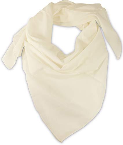 fashionchimp ® BASIC-Baumwolltuch in Uni-Farben, Unisex-Halstuch aus 100% Baumwolle, quadratisch, Damen und Herren (Weiß Uni)