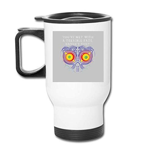 KEDFGUI Youve Met with A Terrible Fate Havent You Legend of Zelda Majoras Mask Vaso de Acero Inoxidable de 16 oz, Taza de café, Tapa a Prueba de Salpicaduras, Bebidas frías